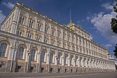 The Grand Kremlin Palace, Moscow.  Built by order of Tsar Nicholas I, the palace contains over 700 rooms.