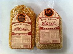 Amish Country Popcorn Variety 2 Bags 2 Lbs Each Total 4 Lbs Non Gmo Baby Yellow Baby White -- BEST VALUE BUY on Amazon
