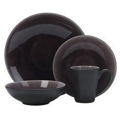 Purple dinnerware set