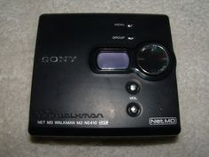 Sony Walkman Net MD MZ-NE410 Stereo MiniDisc Player Nunca tuve walkman ni discman, este fue mi primer contacto con la música!!