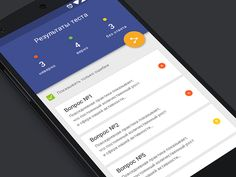 Result screen for secret app (Android) designed by Andrew Astract . Material Design List, Android Material Design, Google Material Design, Android App Design, Iphone App Design, Android Ui, Mobile App Ui, Mobile App Design, Mobile Application Design
