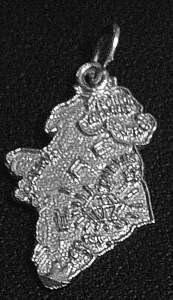 sterling silver 925 map of ireland eire pendant charm Real Sterling silver 925 pendant Charm jewelry by princeofdiamonds