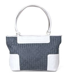 Type : Shoulder Bags Color : Grey with White Closure : Zip Handle/Strap : Two Compartment : Two Material : Leather Dimension (LxW) cm : 44×28 Description:Top Quality leather woven bag both side with 2 centre partitions with zip,1 Back Pocket zip and 2 small zip pocket inside also 1 small pocket for mobile Disclaimer : Product colour may slightly vary due to photographic lighting sources or your monitor settings