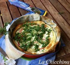 La Chicchina: Torta salata con ricotta, cipolla e rucola