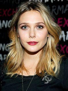 hair On Elizabeth Olsen. Totally prettiest Olsen.