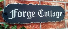 Rustic slate style House Signs - available in 4 plaque sizes - suitable for house numbers, house names or house address sign with number & street name House Address Sign, House Names, House Signs, Rustic Signs, Cottage, Interiors, Desserts, Food, Tailgate Desserts