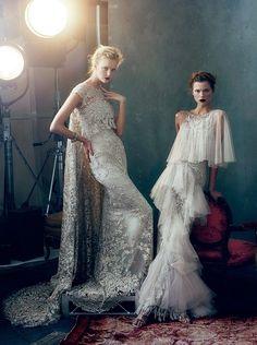 "Caroline Trentini & Kasia Struss in ""Marchesa's Magic Kingdom"" by Norman Jean Roy for Vogue US February 2013"