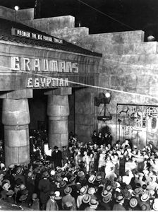 Sid Grauman's Egyptian Theater ~ The World's First Hollywood premiere, 1922