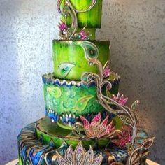 Great Mardi Gras Ball Cake Idea
