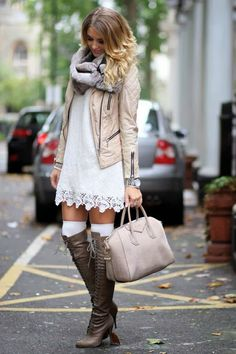 cute dress with boots