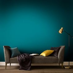 Phantom Paint Farrow And Ball Inchyra Blue, Green Painted Walls, Green Dining Room, Blue Color Schemes, Blue Colors, Turquoise Color, Farrow And Ball Paint, Graham Brown, Wall Paint Colors