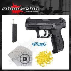 Walther P22 Softair Pistole 6mm - 0,5 Joule - Set #shootclub #airsoft #softair