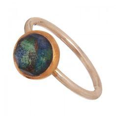 Ασημένιο επιπλατινωμένο δαχτυλίδι Αζουρίτης - Δαχτυλιδια - Κοσμηματα