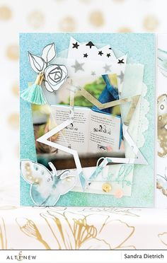 Altenew Crafty Friends Blog Hop + Giveaway | Mini Album & Video | mojosanti - pretty paper things | Bloglovin'
