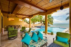 Villa Margarita lounges and beachfront pool