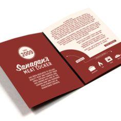 Sanagan's Meat Locker Customer Handbook Design