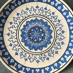Pottery Painting, Ceramic Painting, Fabric Painting, Pueblo Pottery, Blue Pottery, Blue Tiles, Ceramic Jewelry, Tile Art, Pointillism