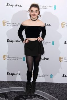 Maisie Williams - Photos - Celebrity photos of the week: Week of February 10 No clowning around: Maisie Williams looked chic at the EE and Esquire BAFTA party in London on Feb. Maisie Williams Sophie Turner, Party In London, Beautiful Celebrities, Beautiful People, Beautiful Women, Mode Renaissance, Woman Crush, Celebrity Photos, Celebrity Babies