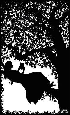 Alice in Wonderland - Laura Barrett - Illustration Portfolio - London Based Freelance Silhouette & Pattern Illustrator I Love Books, Good Books, My Books, Reading Art, Woman Reading, Children Reading, Reading Quotes, Reading Books, Girl Reading Book