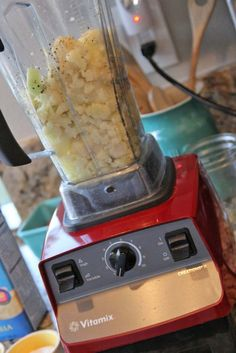 cauliflower instead of mashed potatoes recipe - clean - Vitamix