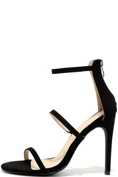 Three Love Black High Heels
