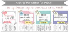 Customized Free Compliments & Positive Thoughts Posters!