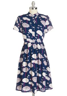 Wishful Wearing Dress. This blue dress makes dreams come true! #blue #modcloth