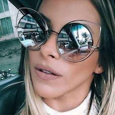 2017 Mode Cat Eye lunettes de Soleil Femmes Surdimensionné De Luxe Marque Designer Lunettes de Soleil Dames Pour Femme Big Cadre UV400 Oculos RS072 dans Lunettes de soleil de Femmes de Vêtements et Accessoires sur AliExpress.com   Alibaba Group
