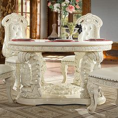 White Round Tables, Round Wood Dining Table, Round Table And Chairs, Furniture Dining Table, Dining Table In Kitchen, Traditional Dining Tables, Contemporary Dining Table, Luxury Home Furniture, Furniture Design