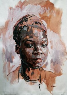 Available for sale, Gentle Strength by Grace Kotze, original oil on unstretched canvas portrait of a beautiful African woman, size 50 x 70 cm unframed. Portrait Art, Portrait Paintings, Acrylic Paintings, Portraits, Beautiful African Women, Original Paintings For Sale, South African Artists, Painting People, Online Art Gallery
