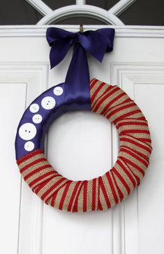 no sew 4th of july wreath
