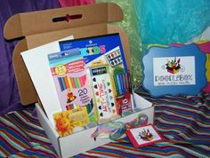 Amazing art kits for kids of all ages.  Love love LOVE!  Personalized with the child's name!
