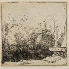 Rembrandt, Botenhuis (Grot met een beek: 'Het spelonkje') ( B 231 ), 1645. Teylers Museum