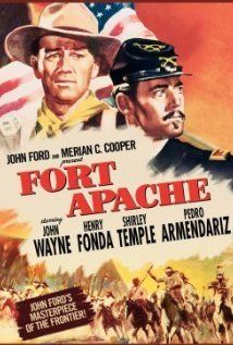 Fort Apache (1948) An honorable and veteran war captain (John Wayne) finds conflict when his regime is placed under the command of a young, glory hungry lieutenant colonel (Henry Fonda) with no respect for the local Indian tribe.  The first of John Ford's trilogy of the cavalry starring John Wayne.  Ford did not get along with either Shirley Temple nor John Agar.   Agar & Temple were married at the time of this movie & Temple was pregnant.