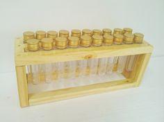 Porta temperos-20 tubos- tampas douradas