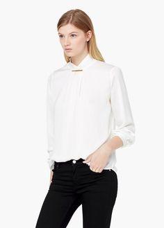 Bluse mit rollkragen | MANGO