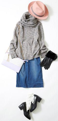 ニットコーデを小物使いでおしゃれに見せるには? ルミネ横浜のアイテムを使った、冬のマンネリを脱するフレッシュなコーディネートをご紹介。人気スタイリスト入江未悠さんが「大人かわいい」をテーマに、上品でまねしやすいスタイリングを提案します!