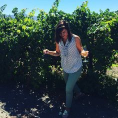 """""""Celebrating my first @stitchfixbox while wine tasting in the vineyards"""" -@morgaenh"""