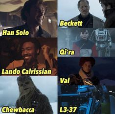 aaaah they're all so cool and there's FINALLY A BLACK WOMAN IN STAR WARS