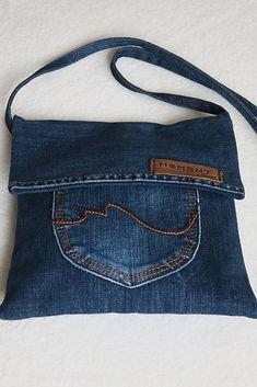 Diy Bags Jeans, Denim Bags From Jeans, Diy Old Jeans, Denim Tote Bags, Denim Purse, Diy Jeans Bag Tutorial, Refaçonner Jean, Denim Bag Patterns, Jean Purses