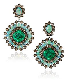 Cellini Jewelers Cellini Jewelers Sutra Jewels Tantalizing Emerald and Opal Drop