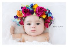 4 month old baby girl. Spring time photo session, pink and flower crowns. #Photography, #babygirl, #flowercrown, #4monthsold, #mother #daughter, #newborn, #babyphotosession
