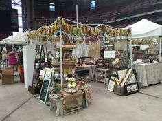 Our booth set up at Front Porch Pickins, University of Phoenix Stadium