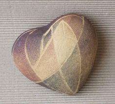Ceramic modern  heart decorated in geometric stile. by DeepSilence, $25.00