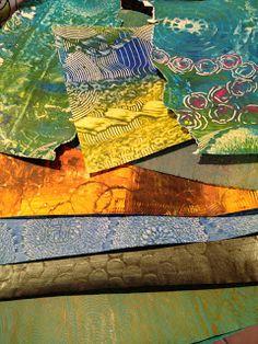 paste papers by Miek Vugts-Coenders  http://miekske.blogspot.nl/2012/10/international-paper-biennale-rijswijk.html