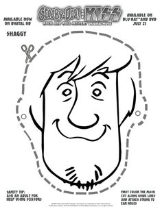 Free Scooby Doo Printable Shaggy Mask
