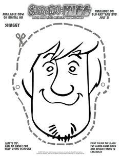 Free Scooby Doo Printable Shaggy Mask