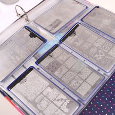 Nail Plate Organizer Binder Sheets Starter Kit: 10 Rectangular Plate Sheets