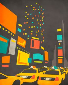 """""""Time Square"""" Art Print by Jazzberry Blue on Society6."""