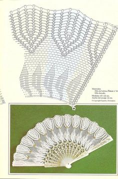 веера — Яндекс.Диск Crochet Diagram, Crochet Chart, Thread Crochet, Love Crochet, Irish Crochet, Crochet Motif, Crochet Doilies, Crochet Lace, Crochet Stitches